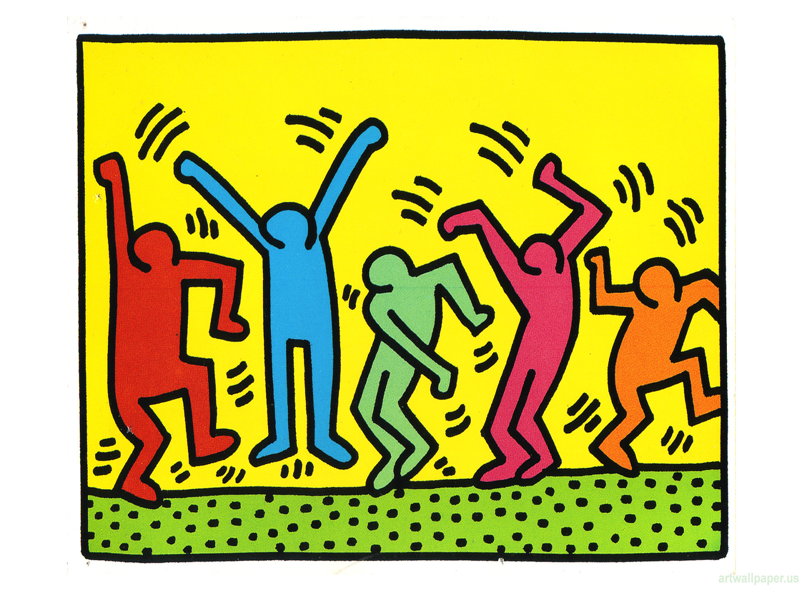 Artwork by Keith Haring - Wallpaper, | Artstack - art online